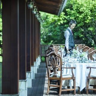 緑に囲まれた大人の隠れ家レストラン
