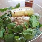 130060523 - 大人の・・・蒸鶏と香菜サラダ450円