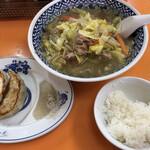 代一元 - Cセット(タンメン・餃子3個・半ライス)