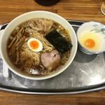 昭島大勝軒 - 「ワンタン麺」1000円+「生玉子」50円