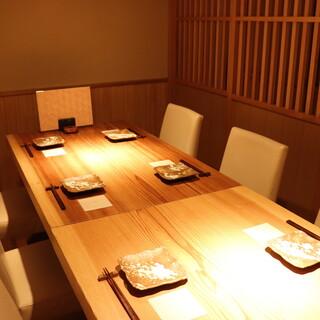 個室完備で接待・特別な会食に最適