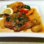 ポンムドテール - 日替わり 桜海老のフリッターと鶏肉のソテー野菜ソース