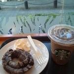 スターバックス・コーヒー - チョコレートドーナツ&ホイップ、アイスカフェモカ!