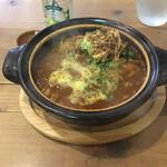 シンパティカリモーネ - チンゲン菜とチキンカツカレー