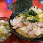 130096895 - チャーシューメン+野菜畑+キャベツ ¥810+80+100