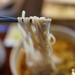 二丸屋武蔵亭 - まかない蕎麦ランチを(¥750税抜き)温蕎麦のみです。本日は筍ご飯との組み合わせ