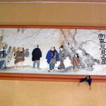佐久ホテル - 葛飾北斎作「向島花見之図」