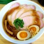 中華そば蒼々 - 味玉中華そば+肉追加(1,000円)
