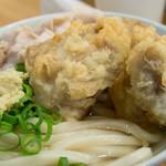 自家製さぬきうどんと肉 甚三 - スペシャルの鶏天アップ