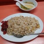 上海軒 - 焼めし(大)、付いてくるスープ