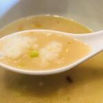 鶏白湯 蔭山 - 残ったスープでリゾット!
