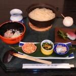 香味庵 まるはち - ひっぱりうどん漬物寿司3貫セット