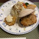 ちかさんの手料理 - おおあさりと天然ホタテフライ