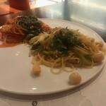 燕三条イタリアンBit - トマトソースとオイルソースです