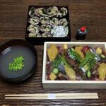 大阪天満宮 鮨とよなが - 鰯海苔巻&ギラバラちらし&お椀