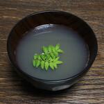大阪天満宮 鮨とよなが - 蜆と水だけのお椀