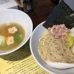 塩生姜らー麺専門店 MANNISH - 野菜トロトロうまシャキつけ麺(限定)(味玉入り)