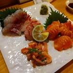 鮨 ひでぞう - 赤貝とかますの昆布締め