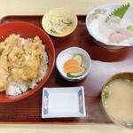 さがみ湾 - 地魚天丼&小盛刺身膳