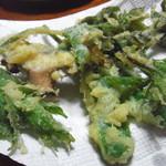 ほそばら - 山菜の天ぷら