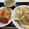 銀座一福 - 料理写真:焼きそば大と半チャーハン^ ^
