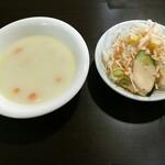 インデアンレストラン  ニューミラ - セットのサラダ スープも書いてないけど付属みたい(•ө•)♡