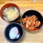 豚大学 - 豚丼セット・キムチ