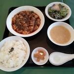 麗華 - マーボー豆腐セットのランチ