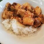 麗華 - ライスにオンザマーボー豆腐