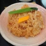 川越 藪蕎麦 - 天ぷらせいろうの天ぷら(小エビのかき揚げ)