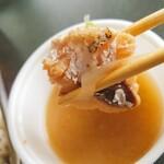 榴岡 銀杏 - サービスのあんこうの味噌汁。