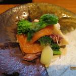 130185066 - サクラマス燻製とホタルイカと春野菜