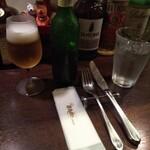 ビストロ クルル - セッティング&謎の飲み物