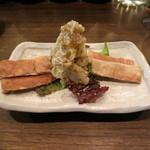 鉄板焼さくら - ポテトサラダ と 焼麩