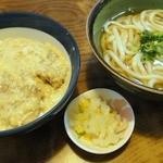 丸福 - お昼のカツ丼定食(うどん付) \730