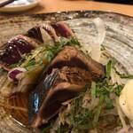 130190284 - 藁焼き鰹のたたき(ポン酢)