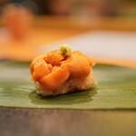 日本料理 たかむら - 蝦夷馬糞雲丹