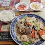 名華園料理店 - シオヤキソバテイショク?