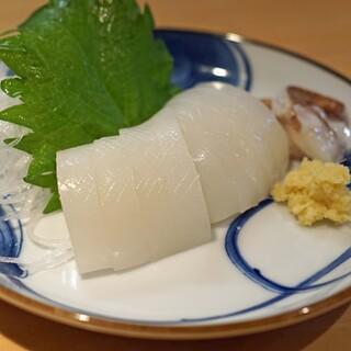 石臼挽き手打 蕎楽亭 - 料理写真:スミイカの刺身