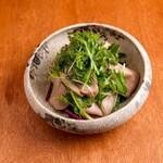 鴨と水菜のハリハリサラダ