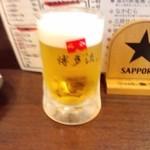 立呑み 博多流。 - 200円の生ビール