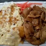 ほっともっと - 料理写真:チキン南蛮しょうが焼コンビ弁当(大)
