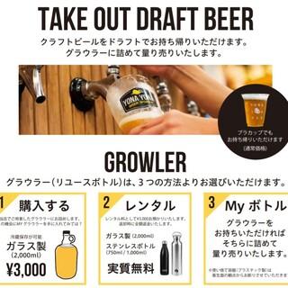 ビールの量り売り始めました