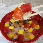 taishuusushisakabakogane - バラチラシ丼アップ