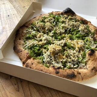 東灯だからこその「大山こむぎのピザ」お試しください