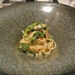 リストランテ カノフィーロ - 桜エビとチーマデラーパのアーリオオーリオ スパゲッティ