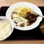 松屋 - チキン南蛮焼きデラックス定食