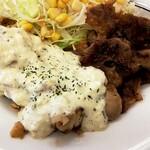 松屋 - チキン南蛮焼きと牛カルビ