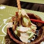 桜小町 - 沖縄産黒蜜クリーム エスプレッソのゼリーを添えて