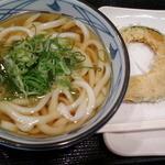 丸亀製麺 - かけうどん/かぼちゃ天
